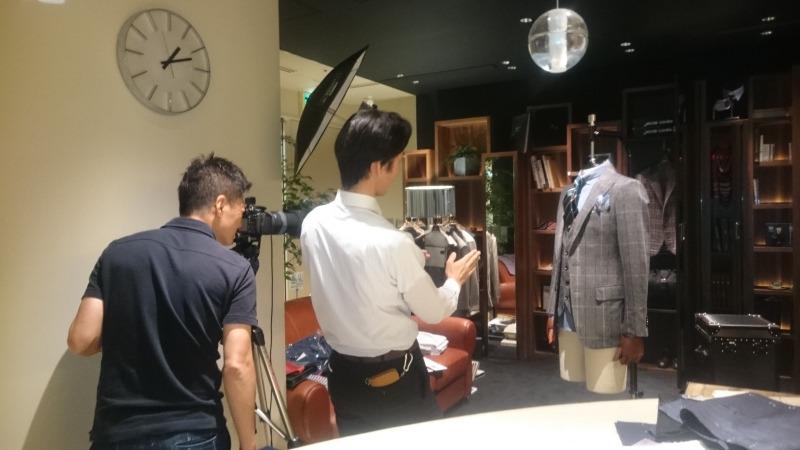 スーツの秋冬サンプル撮影〈イズント〉