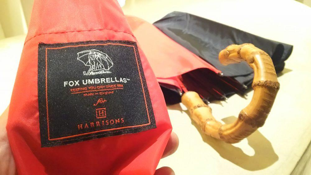 フォックス・アンブレラズとハリソンズオブエジンバラの折り畳み傘〈イズント〉