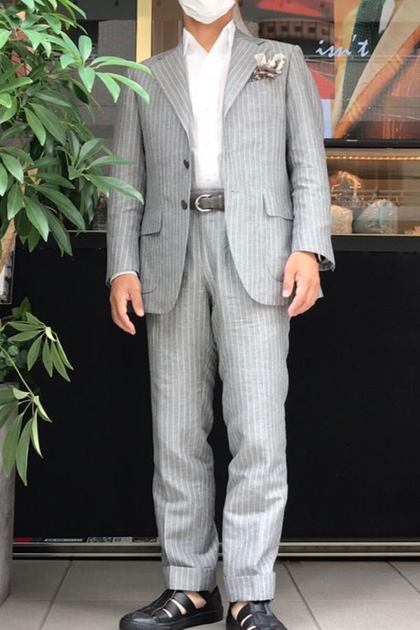 TAYLOR & LODGE(テイラー&ロッジ)ウールリネンのスーツ